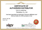 Palizafzar's as an authorized exclusive distributor for Virdi products