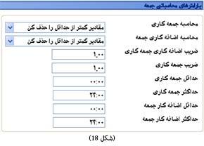 پارامترهای محاسباتی جمعه در نرم افزار حضور و غیاب
