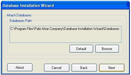 نصب پایگاه داده نرم افزار حقوق و دستمزد