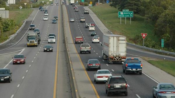 ماشین ها در جاده های ایالت متحده