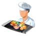 آیکون توزیع در نرم افزار تغذیه تحت وب