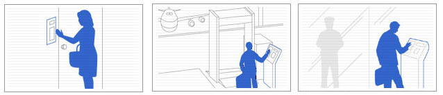 استفاده از دستگاه بیومتریک تشخیص رگ کف دست در ادارات دولتی، فرودگاهها و آپارتمان