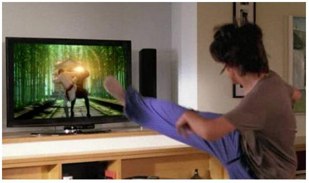 تصویر نمایشی از کاربرد تکنولوژی Gesture Recognition در بازی های ویدئویی