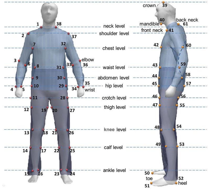 تشخیص هویت بیومتریک از روی نقاط و نشانه های شکل بدن