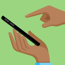 کنترل نحوه ضربه وارد کردن به صفحه لمسی موبایل