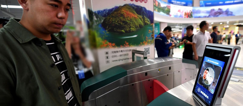Face biometric payments for subway system
