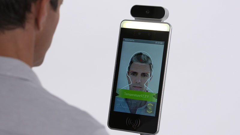 سیستم تشخیص چهره و دمای بدن بیومتریک